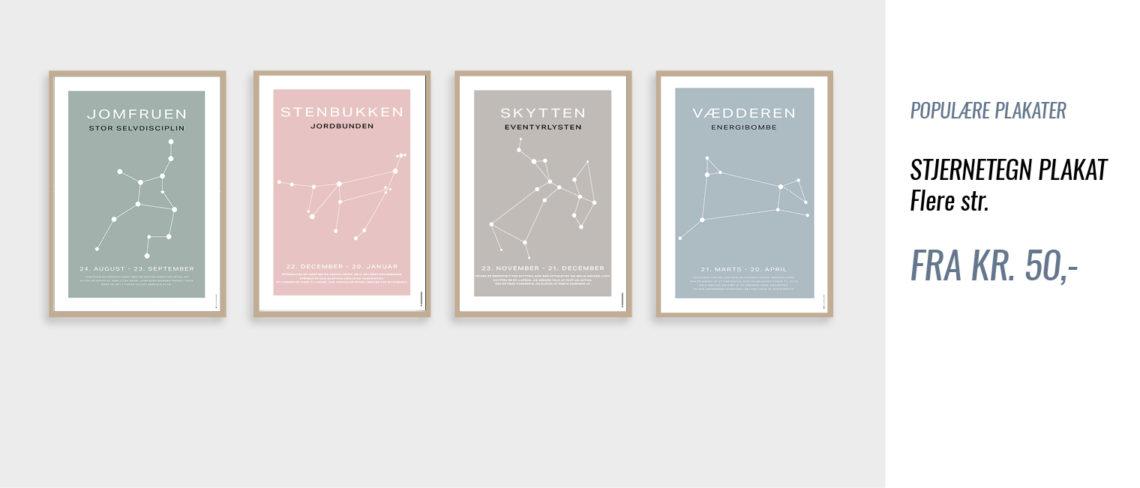 Stjernetegn plakater