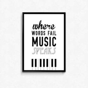 Where words fail - music speaks