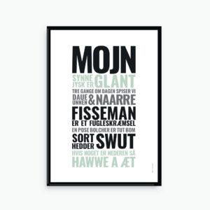 plakat, poster, SPROG, sønderjysk, talemåder, slang
