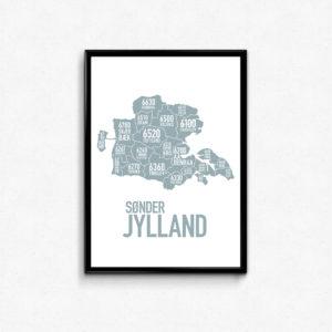 sønderjylland, kort, plakat, poster, landsdelplakat, sønderjysk