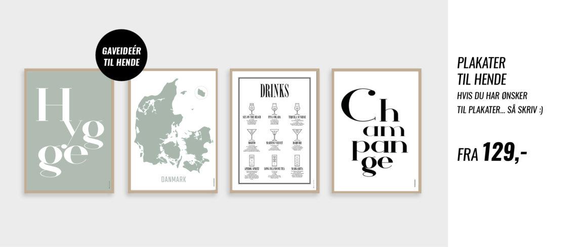 Plakater til hjemmet, champagne, danmark, drinks, hygge