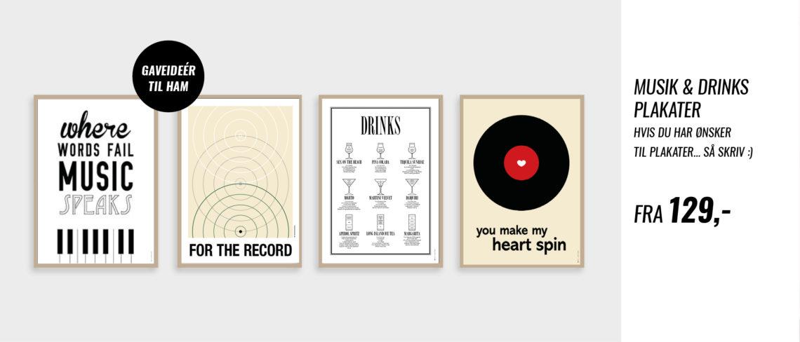 Musik og drinks plakater