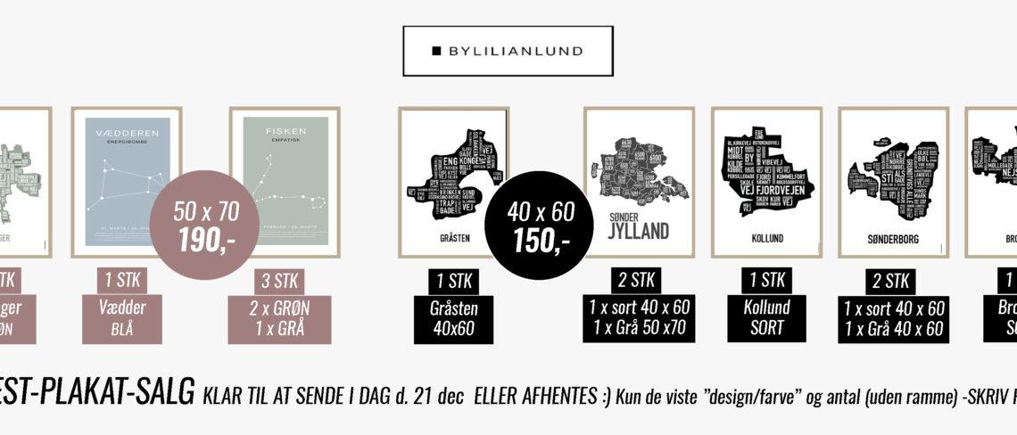 Restsalg plakater sønderjylland byplakat