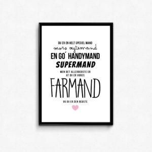 Farmand plakat. Handymand, supermand, Gave til fars dag