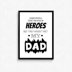 fars dag plakat, hero