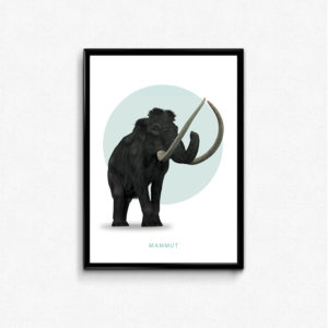 mammut, plakat, elefant