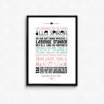 gave til vuggestue eller dag, Personlig plakat, grafisk design af plakat, din personlig grafiske designerpleje plakat