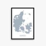 Danmarkskort plakat