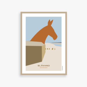 Plakat med Blåvand, heste