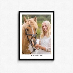 plakat med hest til hestepigen
