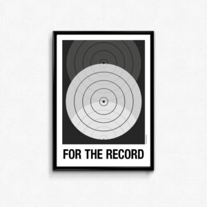 """for the record"" plakat. Plakat til elskeren af LP, vinyl og plader."