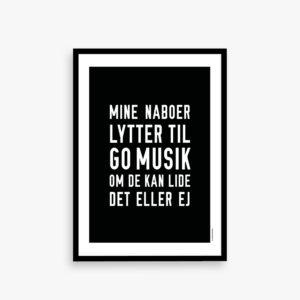 musikplakat, go musik, naboer