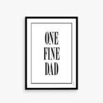 One fine dad, plakat til far