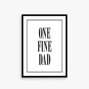 One fine dad, plakat til far