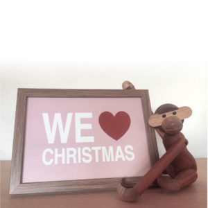 we love christmas, julekort, jul, christmas, kort i ramme