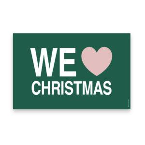 we love christmas, julekort, jul, christmas