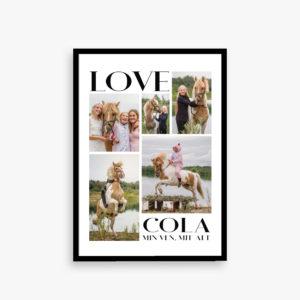 """""""Love"""" plakat, plakat med billeder,"""