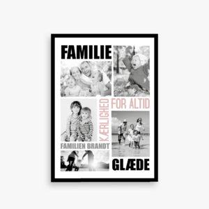 Familieplakat, familie plakat med billeder