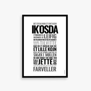 IK`OSDA, fynsk sprog, dialekt, plakat