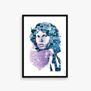 JIMmorrison #nyhed #kunonline #ikkeibutikker #limitededition #jimmorrison #bylilianlund #art #music #club27 #thedoors #digitaldesign #graphicdesign flere str