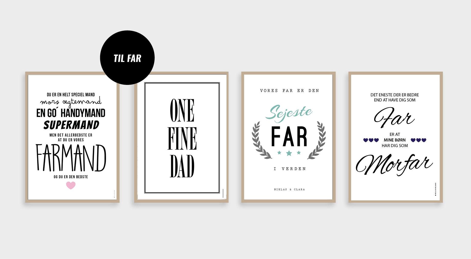 kort til far, gave til far, fars dag