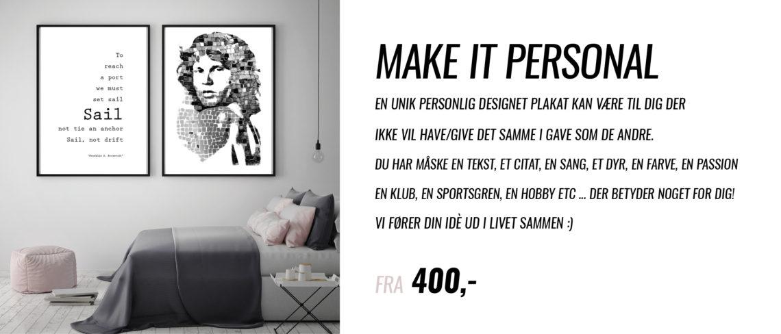 Make it personal, personlige plakater, plakat gaver, personlig gave