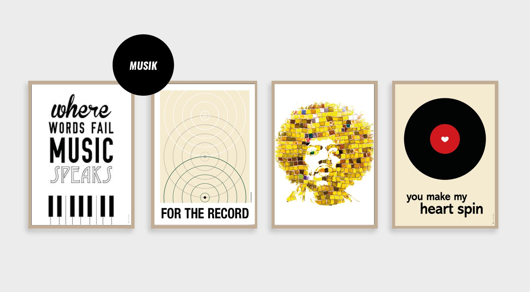 musik plakater, music poster