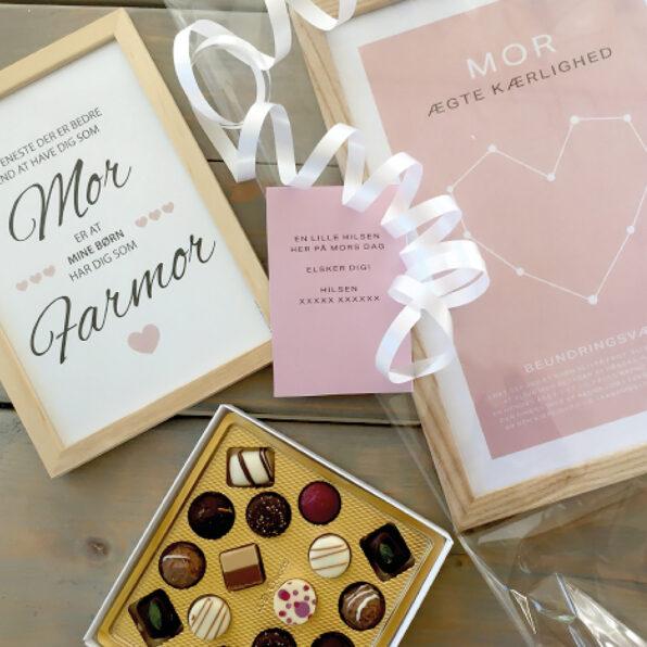 kort til mor gave til mor, mors dag, mors dag pakke