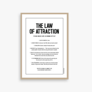 the law of attraction kort eller plakat