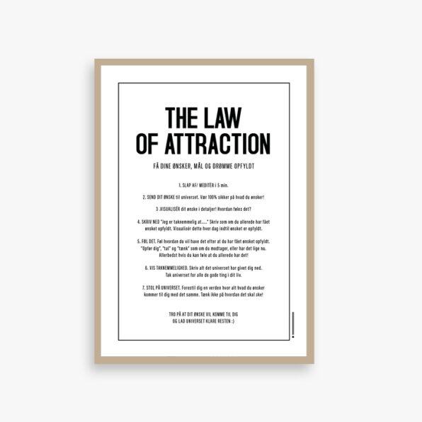 the law of attraction kort eller plakat