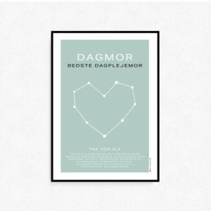 Personlig plakat til dagplejer DAGMOR - BEDSTE DAGPLEJEMOR