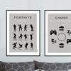 Gamer poster, gamer fornite, plakat, eat , sleep, game, repeat, fornite