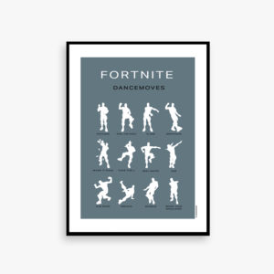 Gamer poster, gamer fornite, plakat, eat , sleep, game, repeat, fornite dance, floss, dab, make it rain