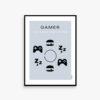 Gamer poster, gamer plakat, eat , sleep, game, repeat