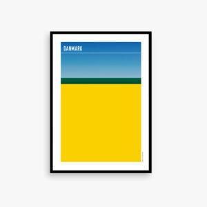 Plakat med Danmarkskort, danmark, dk, poster, plakat