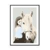 Personlig illustration plakat Grafisk design bylilianlund Printet på 200 g. lækkert papir Der bliver lavet en illustration af din hest/pony eller andet dyr ud fra dit eget foto.