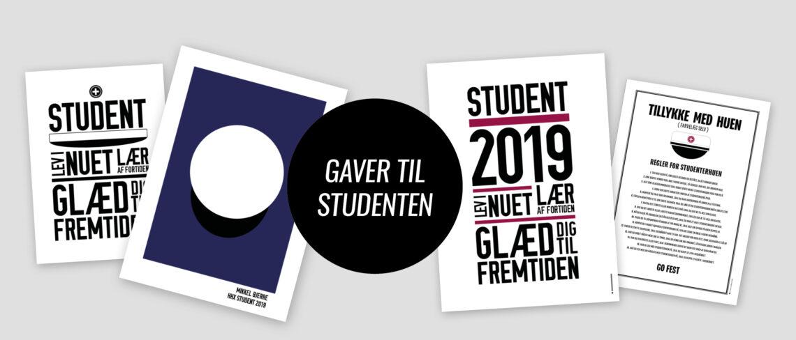 Student, student2019, studenterfest, gave til studenten, kort til student