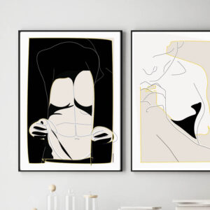 Myman. Grafisk kunst. Grafisk kunst. Art Print. Minimal Art. Abstract man. Man Art Decor. Mænd på væggen. Plakat med mand.