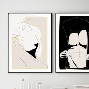 Hopes. Grafisk kunst. Art Print, Minimal Art, Abstract man Art, manArt Decor. Mand på væggen. Drømmemand